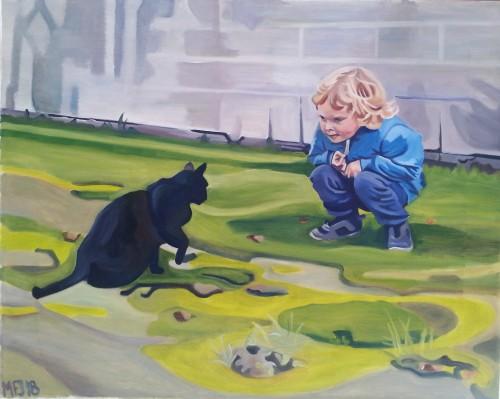 Asger og kat